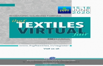 IHGF Textiles Virtual fair-2020 from 15-18 June, 2020 on Virtual platform.